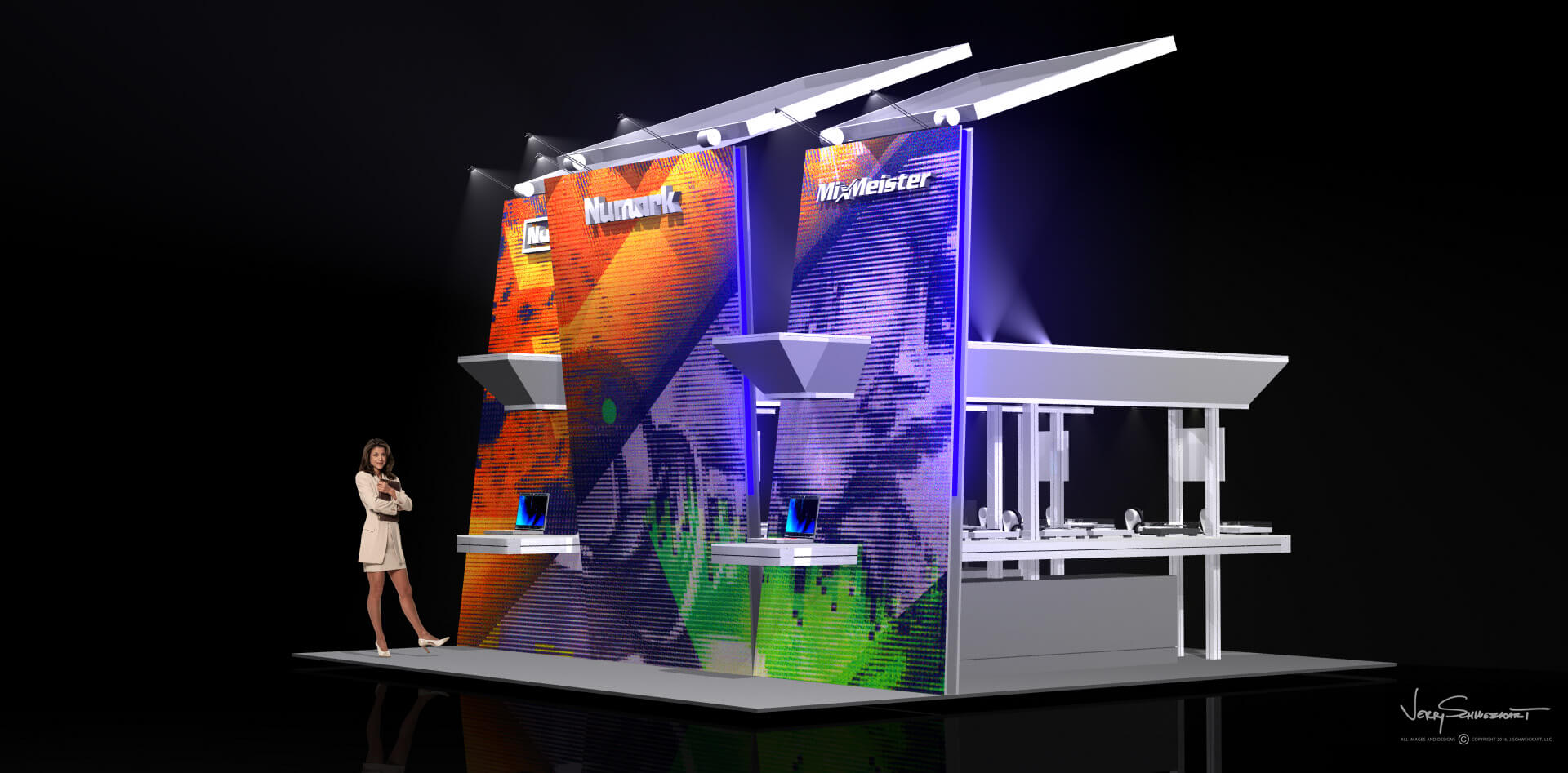Numark Audio 20 x 20 Exhibit Stand Designed by Industrial Designer Jer Schweickart