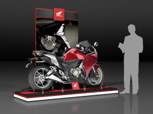 Honda PowerSports Showroom Fixtures